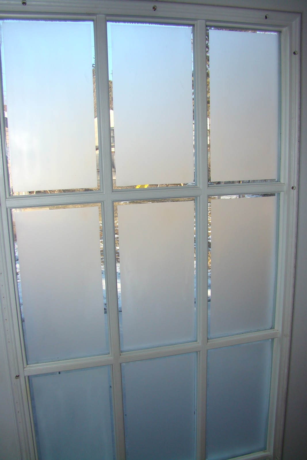 Frosted glass on french doors cindyriddle another view of the finished window rubansaba